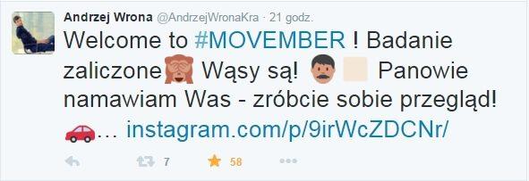 Andrzej Wrona movember twitter