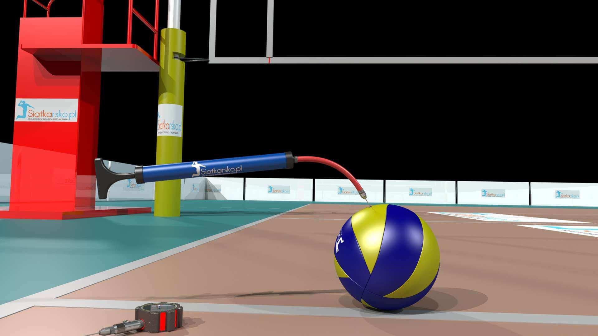 piłka do siatkówki na boisku